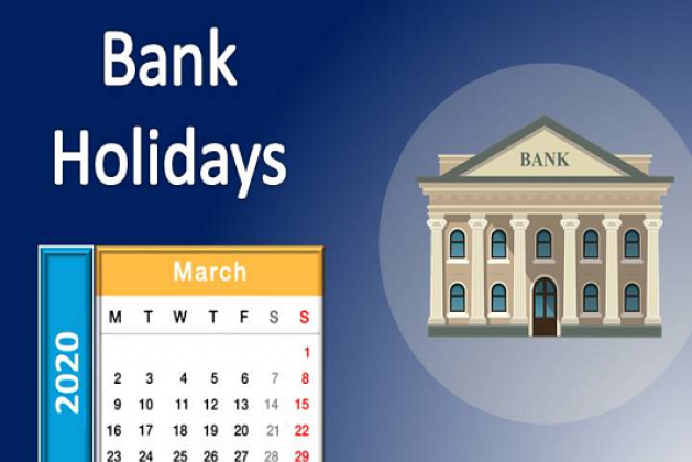 Bank Holidays List in March 2020