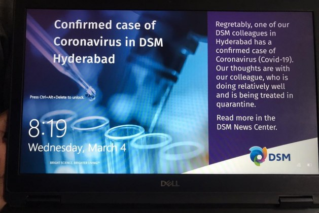 Corona New Positive Case in Hyderabad Raheja Mind space